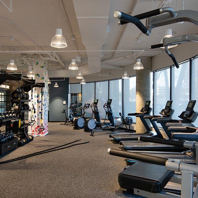 Gym area at 8200 Greensboro Drive, McLean VA