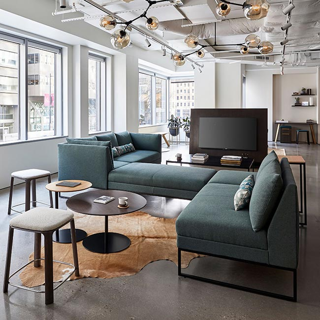 Lounge area at Gunlocke Showroom, Washington DC