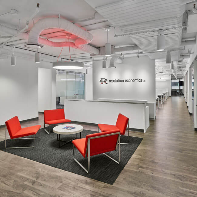 Reception area at Resolution Economics, Washington DC